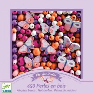 Perlas de madera Mariposas