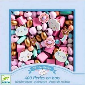 Perlas de madera Arcoiris