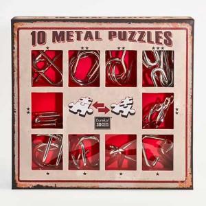 10 Metal Puzzles Set Rojo