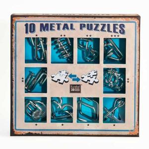 10 Metal Puzzles Set Azul