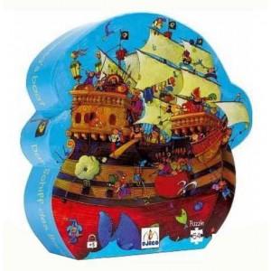 Puzzle Silueta Barbanegra 54 piezas
