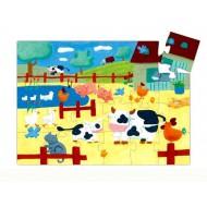 Puzzle Silueta Vaca 24 piezas