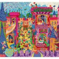 Puzzle Silueta Castillo Mágico 54 piezas
