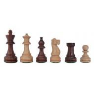 Piezas de ajedrez American Staunton 5 marron/blanco madera