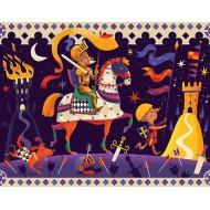 Puzzle Silueta Don Quijote 36 piezas