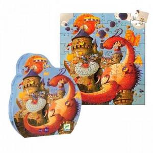 Puzzle Silueta Vaillant y el dragón