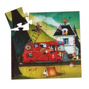 Puzzle Silueta el Camión de bomberos