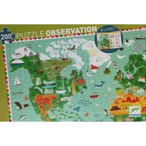 Puzzle Observación Vuelta al Mundo - 200 piezas
