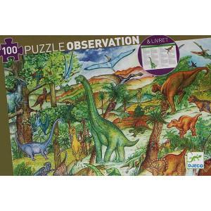 Puzzle Observación Dinosaurios - 100 piezas