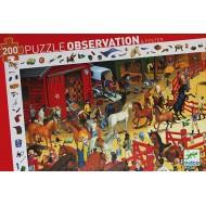 Puzzle Observación Equitación