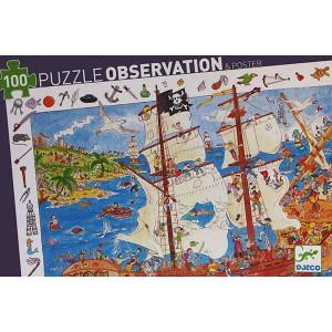 Puzzle Observación Piratas - 100 piezas