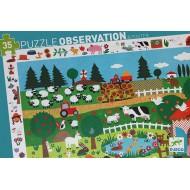 Puzzle Observación Granja - 35 piezas