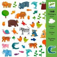 160 Adhesivos Animales
