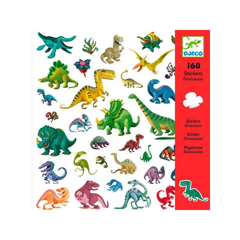 160 Adhesivos Dinosaurios