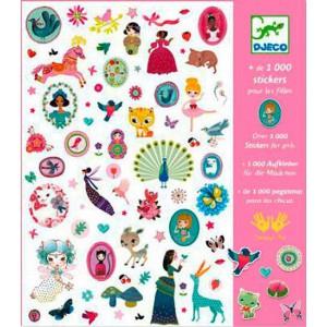 1000 Adhesivos Para las Niñas
