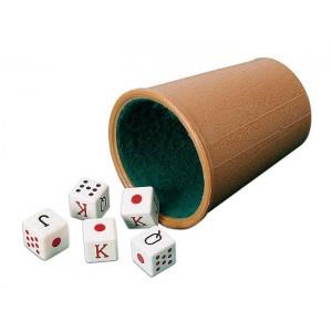 Cubilete  dados de poker Cayro