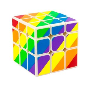 Cubo Moyu Unequal Arcoiris 3x3x3
