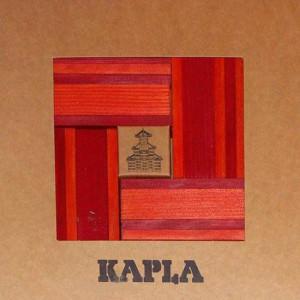 Kapla 40 Dos colores - Rojo, naranja y libro