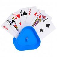 Sujeta cartas Triangular