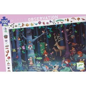 Puzzle Observación Bosque encantado - 100 piezas