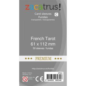 Fundas ZACATRUS Tarot Frances PREMIUM (61x112 mm)