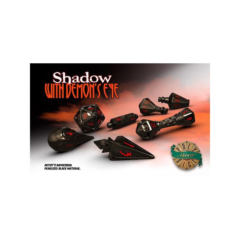 Poly Hero Dice: Shadow with Demon's Eye
