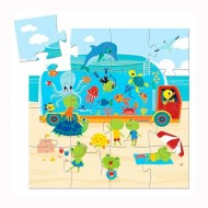 Puzzle Silueta Aquario 16 piezas