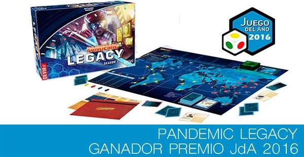 Pandemic Legacy...¡ganador Premio JdA 2016