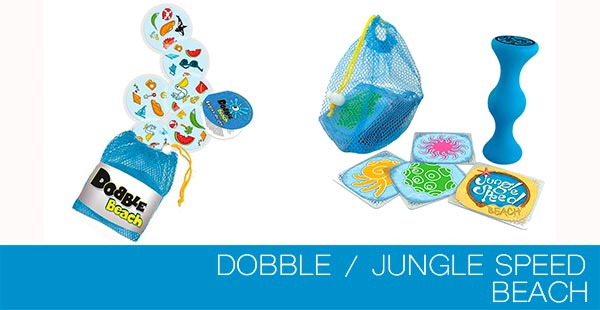 Juegos piscineros: Dobble Beach y Jungle Speed Beach
